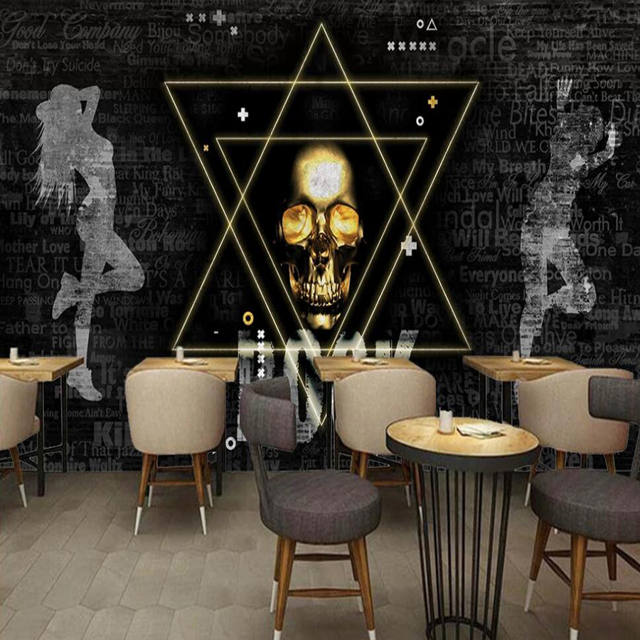 US $9 29 OFF Custom 3D Mural Wallpaper Metal Rock Music Tooling Mural Decorative Mural Wallpaper Wallpapers AliExpress