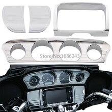 Motorcycle Panel Stereo Accent Trim Gauge Radio Bezel Speaker Cover Trim For Harley Electra Glide Street Glide Ultra 2014 2019