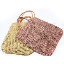 Tkactwo wytłaczany papier torba ze słomy torba na ramię torba na plażę dla kobiet, torba podróżna dla kobiet moda damska na co dzień