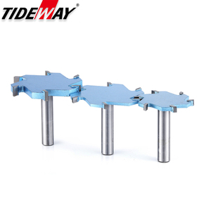 Image 4 - Tideway 1/2 Shank 6 Flutes Groove Slotting Milling Cutter CNC Tool For Hard Wood Cutters T type Slot Woodworking Router Bit