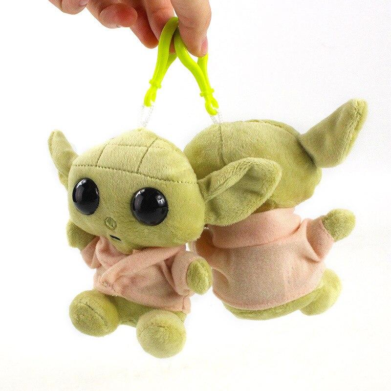 1pc 11cm Star Wars Baby Yoda Plush Peluche Toys Master Yoda Soft Stuffed Cartoon Animal Dolls Keychain Pendants Gift For Kids