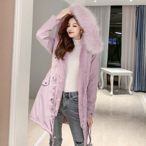 Smlinan Winter Jacket Women Fur Coollar Hooded Coat Female Plus Size Casual Thick Warm Long Parka Mujer Cotton Padded Jackets