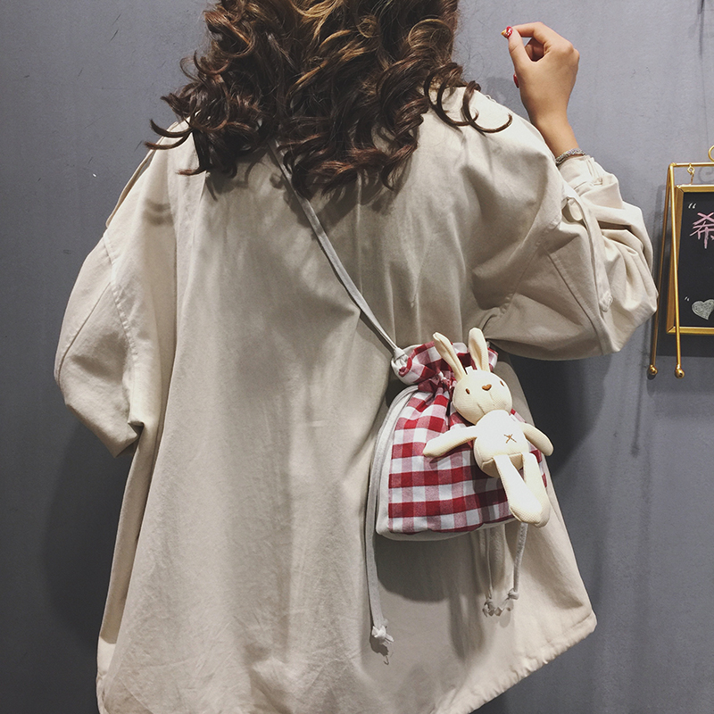 Cute Bucket Small Bags Shoulder Bag Women 2019 New Canvas Crossbody Bags for Women Shoulder Bag in Shoulder Bags from Luggage Bags