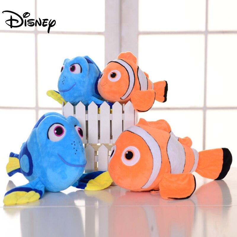 Disney filme dos desenhos animados encontrando nemo dory brinquedos de pelúcia 30-45cm animais brinquedos de pelúcia bonecas brinquedos de peixe palhaço para crianças presentes