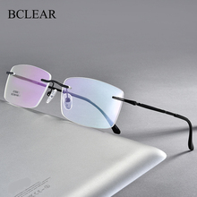 Glasses Spectacles Rimless-Frame Business-Style BCLEAR Nearsighted And Men New-Arrival