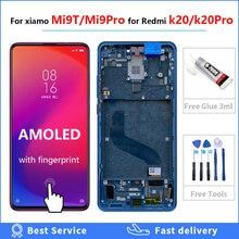 ЖК дисплей 639 дюймов super amoled mi9t pro для redmi k20 рамка