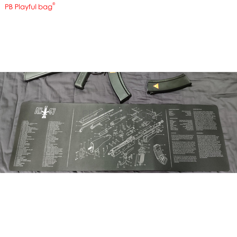 Playful Bag AR15 AK47 Glock Exploded View Mouse Pad Room Desk Pad Office Table Mat CS Game Fans Collections QE79