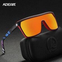 KDEAM New Oversize Shield Sunglasses Men Polarized
