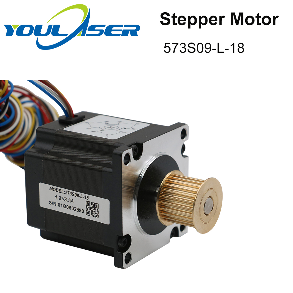 H466b6d82e9f346ec871cadacaf65e7743 - YOULASER Leadshine 3 Phase Stepper Motor 573S09-L-18 for NEMA23 3.5A Length 50mm Shaft 6.35mm