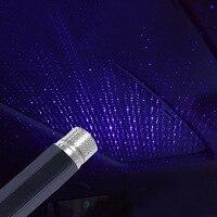 Proyector de estrellas estrelladas USB, luz nocturna para techo de coche, lámpara de Ambiente, luz decorativa dinámica para dormitorio o coche, proyector de galaxia