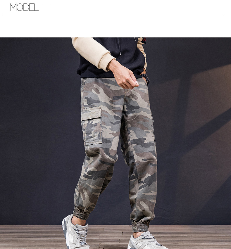 KSTUN Cargo Pants Men 100% Cotton Baggy Military Pants Khaki Camouflage Pants Casual Man Trousers Loose fit Streetwear Men Joggers 14