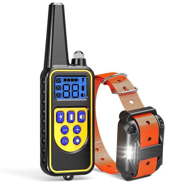 Pet Dog Anti Bark wodoodporny kołnierz z pilotem Stop Barking akumulator Anti Bark LED szkolenia psów domowych Dev tanie i dobre opinie Kora Deterrents XLD-001 Z tworzywa sztucznego