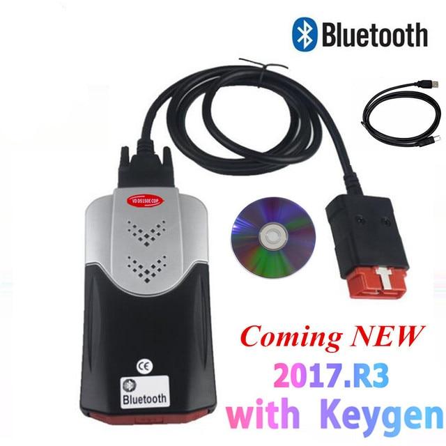 2021 vd tcs  Obd Obd2 Scanner For Delphis vd   2017 R3 Bluetooth For Car Trucks Diagnostic Tool+8 Pcs Car Cables