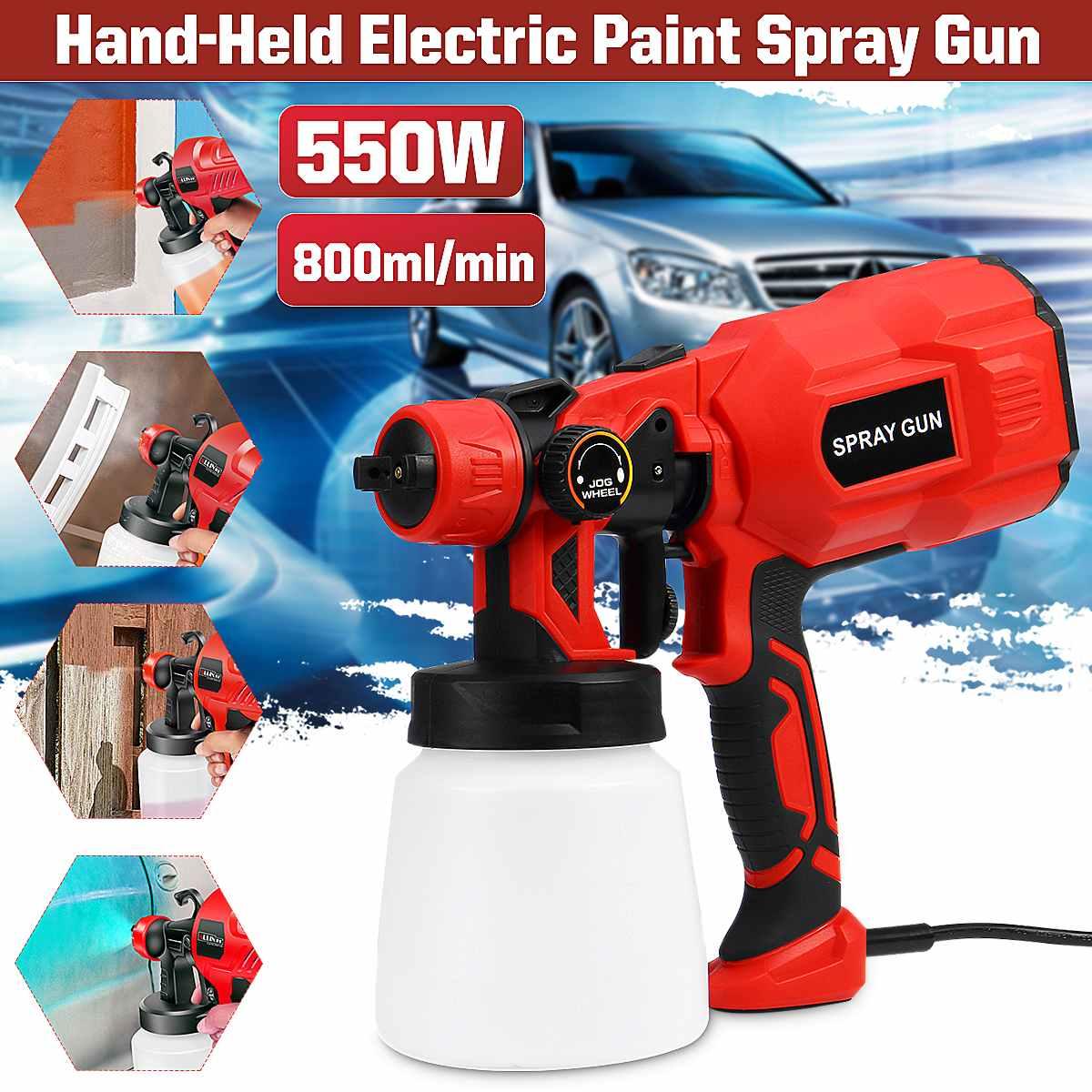 1.8/2.5MM Nozzle Spray Guns Paint 650W 220V 800ML High Power Spray Guns Home Electric Paint Sprayer Easy Spraying Clean