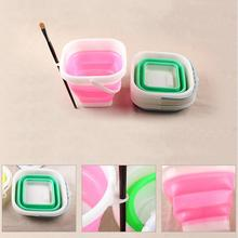 Multi-function Folding Pen Washing Bucket Oil Painting Accessories Pen Wash Container Random Color