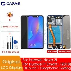 Image 1 - מקורי עבור Huawei נובה 3i LCD תצוגה + מסגרת 10 מגע מסך עבור Huawei נובה 3i LCD מסך החלפת תיקון חלקי חילוף