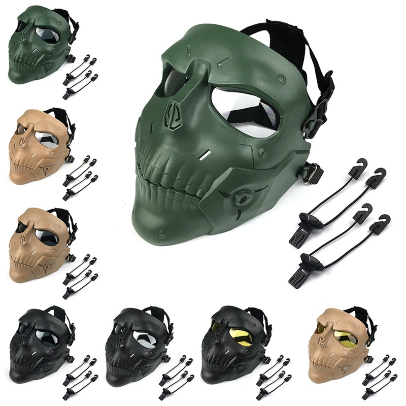 New Face Mask Scary Skull Shape Impact Resistant Tactical Headwear Protection Halloween Party Game Costumes Accessories