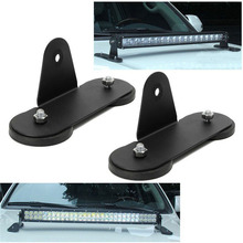 цены 1 Pair of Magnetic Bracket  ABS plastic 18.8x6. 6x9.8cm Strong Magnetic Mount Bracket Holder Base Roof LED Light Bar For Car#806