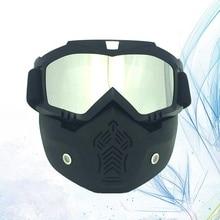 Eyewear Snowmobile Ski Winter Eyeglass Frame Face-Mask Plating Matte Silver And Black