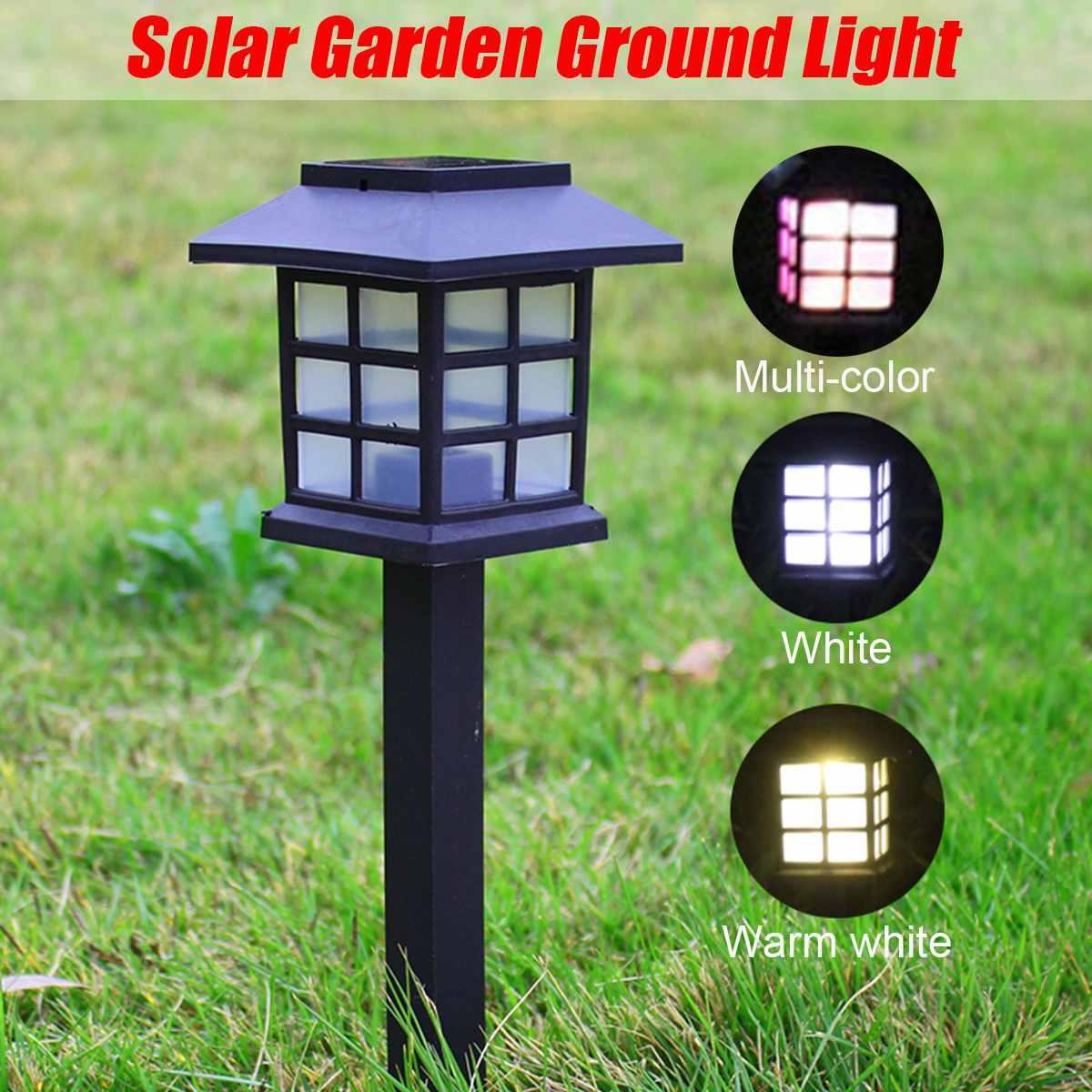 House Shaped LED Solar Lights Outdoor Garden Decoration Plastic Sensor Sunlight Waterproof Garden Stair Courtyard Pathway Lamps