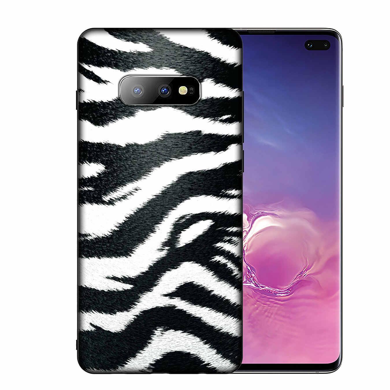 IYICAO נחש עור DIY נמר ציור רך סיליקון טלפון Case לסמסונג גלקסי S10 E S9 S8 בתוספת S6 S7 קצה S10e שחור כיסוי