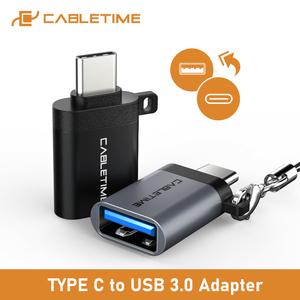 CABLEIME Type C OTG Adapter USB3.0 A Female to Type-C Adapter Charging & Sync Converter for Mobile Phones Laptops Tablets C011(China)