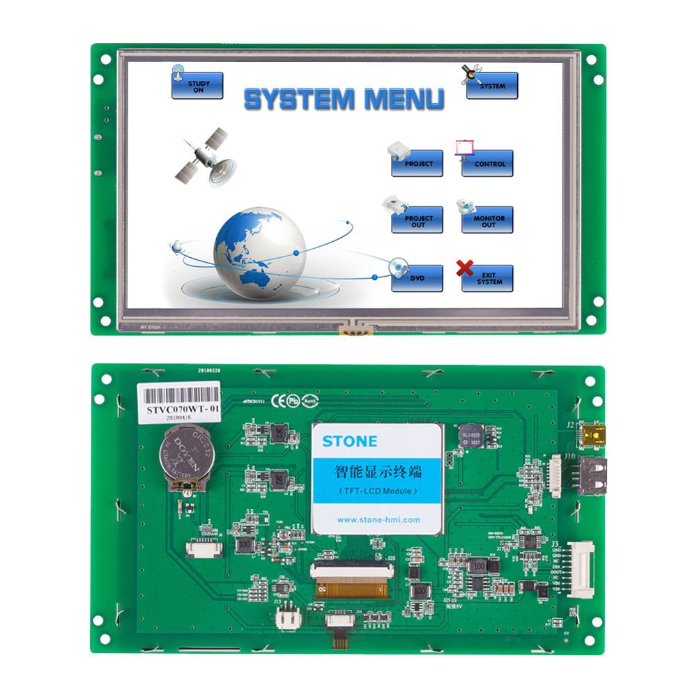 STONE 7.0 Inch HMI 800*480 TFT LCD UART Serial Interface+Program+Software For Industrial Use
