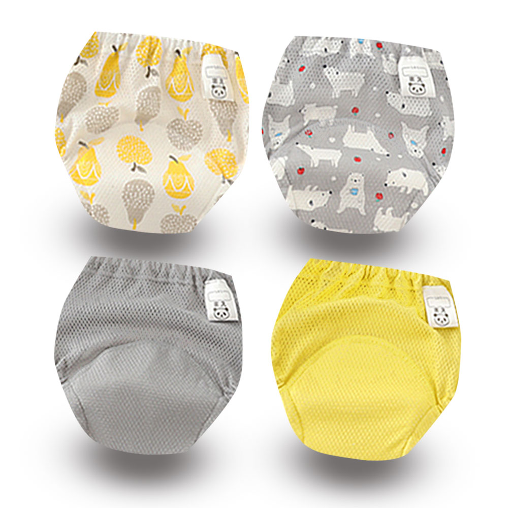 Waterproof Reusable Baby Kids Cotton Potty Training Pants Infant Shorts Underwear Cloth Diaper Nappies Child Panties 4PCS/lot
