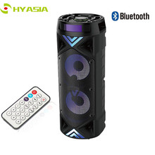 HYASIA kablosuz taşınabilir hoparlör büyük 30W güç ağır 4500mAh Stereo bas ses sistemi Bluetooth Soundbar desteği FM USB TF Aux