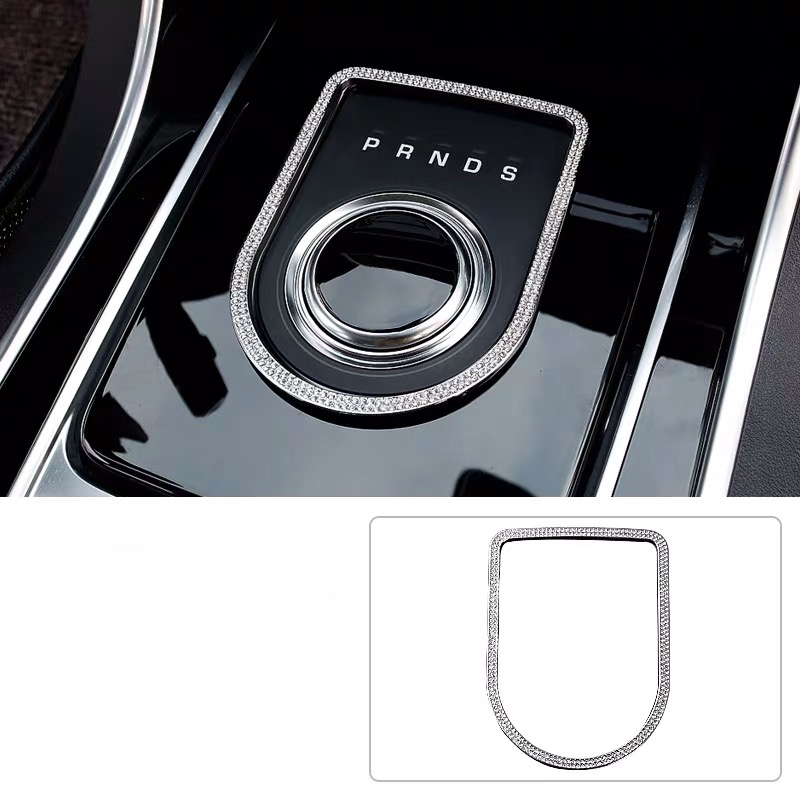 Car Interior Styling Accessories For Jaguar XF XFL Car Control Gear Panel Frame Alloy Diamond Inlay Decoration Stickers