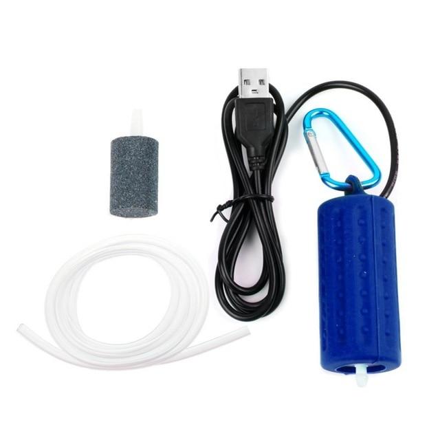Mini USB Aquarium Fish Tank Oxygen Air Pump Quiet Energy Saving Supplies Aquatic Terrarium Fish Tank Accessories 4