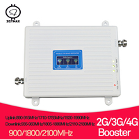 ZQTMAX 2g 3g 4g repeater Tri Band cellular signal booster 900 1800 2100 GSM WCDMA UMTS LTE DCS 1800 telephone cellular amplifier