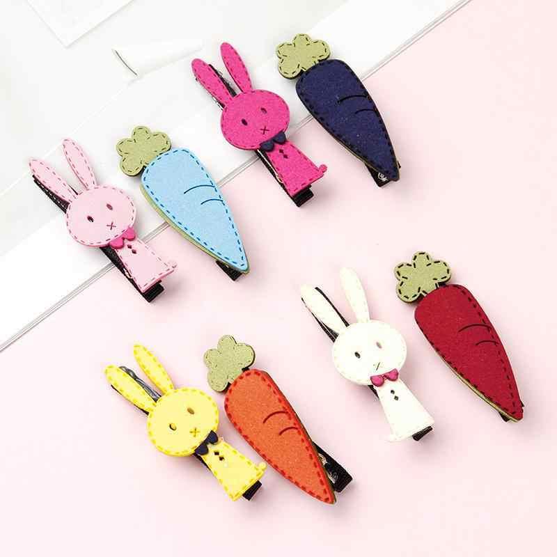 Çocuk sevimli tavşan havuç ayı kuş tokalarım güney kore Bang yan klip karikatür saç tokası Headdress saç aksesuarları