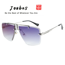 Joubas Pilot Mens Sunglasses Square Rimless Gradient Sun Glasses for Men Vintage Eyewear Fashion Brand Designer Driving Shades