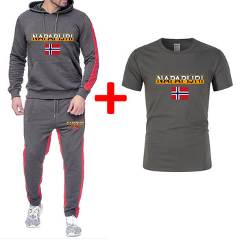 2020 Men Spring Suits Sportswear Set Mens Clothing Hoodie + Pants 3 Pieces Sets Plus Size Pattern 3XL Fitness Clothing