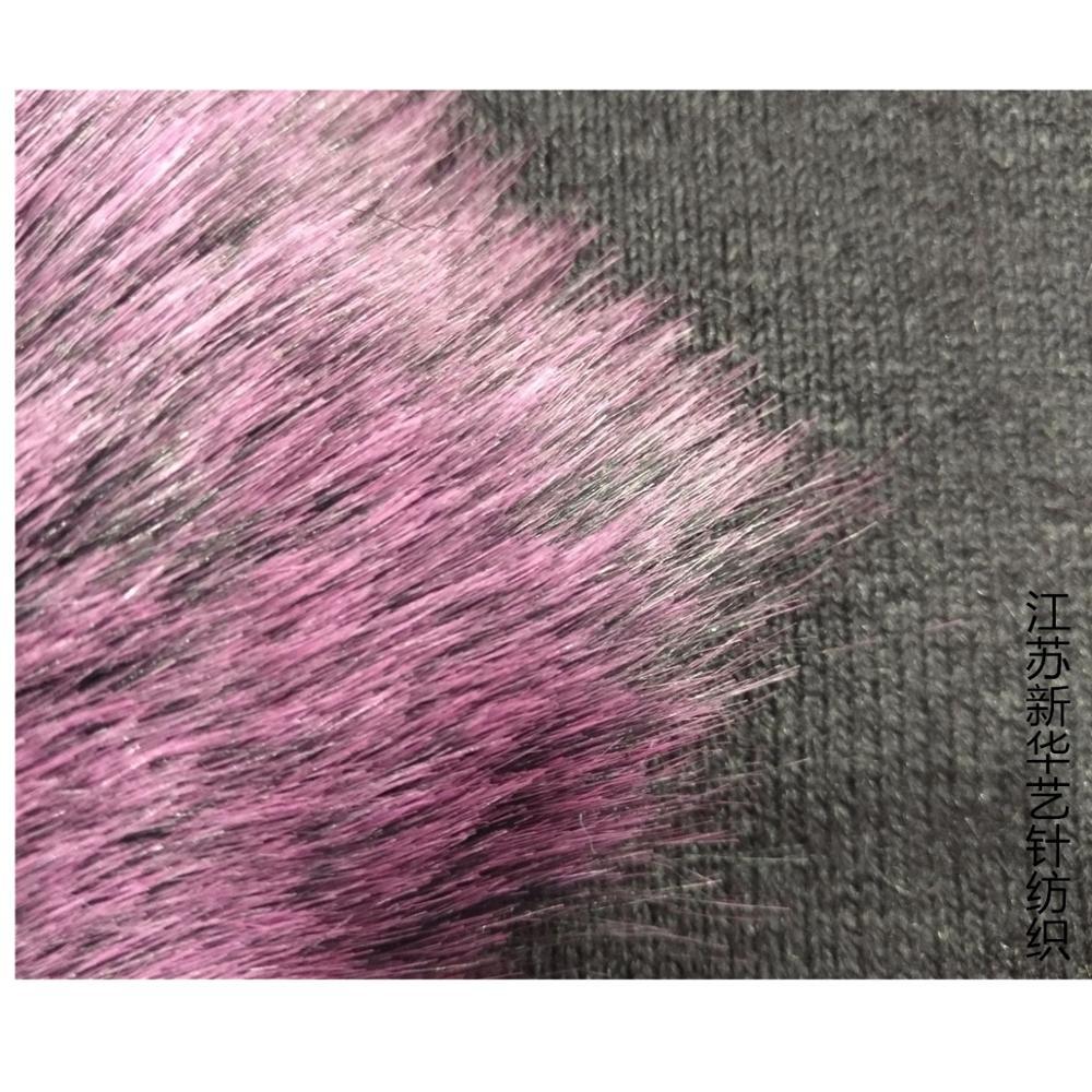 Мягкий лисий мех окрашенный кончик выцветший лисий мех плюшевая меховая ткань для игрушек - 4