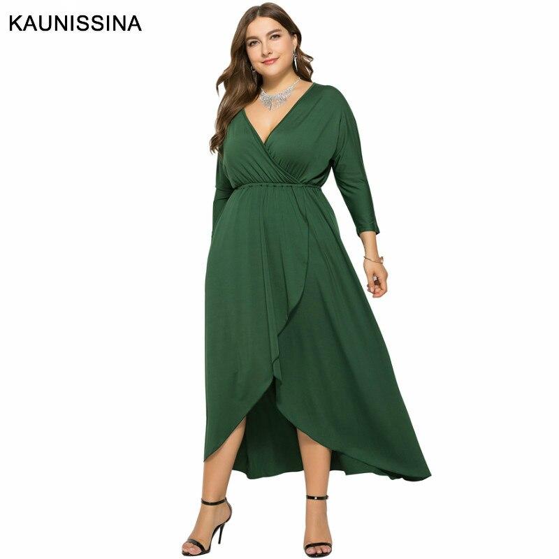 Mega Discount #9702 - KAUNISSINA Plus Size Party Gown Women ...