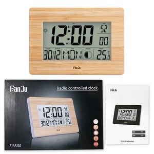 Image 5 - Цифровые настенные часы FanJu FJ3530 с ЖК дисплеем, многофункциональные настольные часы с цифрами, прикроватный термометр, большие часы