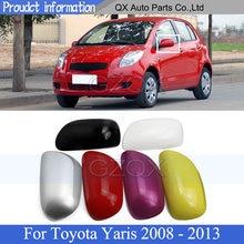 Крышка для зеркала заднего вида CAPQX, крышка для Toyota Yaris 2008 2009 2010 2011 2012 2013, крышка для зеркала заднего вида
