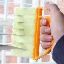 1Pc Waschbar Fenster Reiniger Mikrofaser Staub Reiniger Pinsel Für Venezianischen Klimaanlage Auto Fenster Nut Staub Reinigung Werkzeug