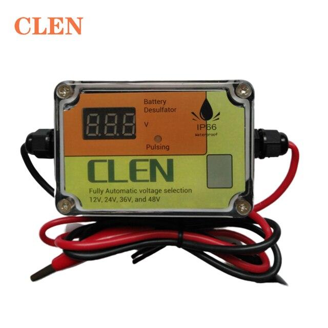 CLEN nowy model 400Ah inteligentny automatyczny impuls samochodowy akumulator kwasowo ołowiowy odsiarczający Regenerator regenerujący