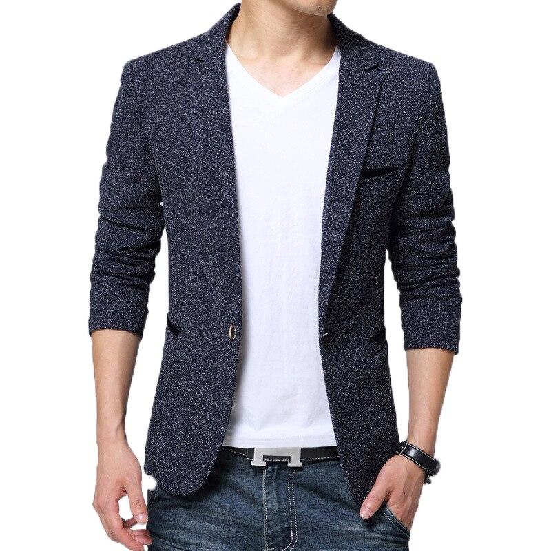 BROWON New Arrival Mens Blazer Jacket Suit Wedding Prom Party Slim Fit Smart Casual Suit Men Jacket Business Men Suit Jacket