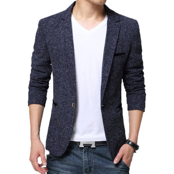 BROWON New Arrival Mens Blazer Jacket Suit Wedding Prom Party Slim Fit Smart Casual Men Business - discount item  50% OFF Suits & Blazer