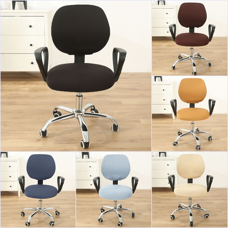 1set Computer Chair Cover Elastic Spandex Chair Cover Universal Armchair Cover Dustproof Seat Chair Protector Office Decor(China)