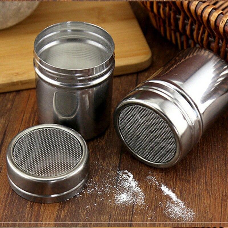 Spice Jar Net Lid Type Spice Tins Household Seasoning Jar Stainless Steel For Pepper Shakers Salt