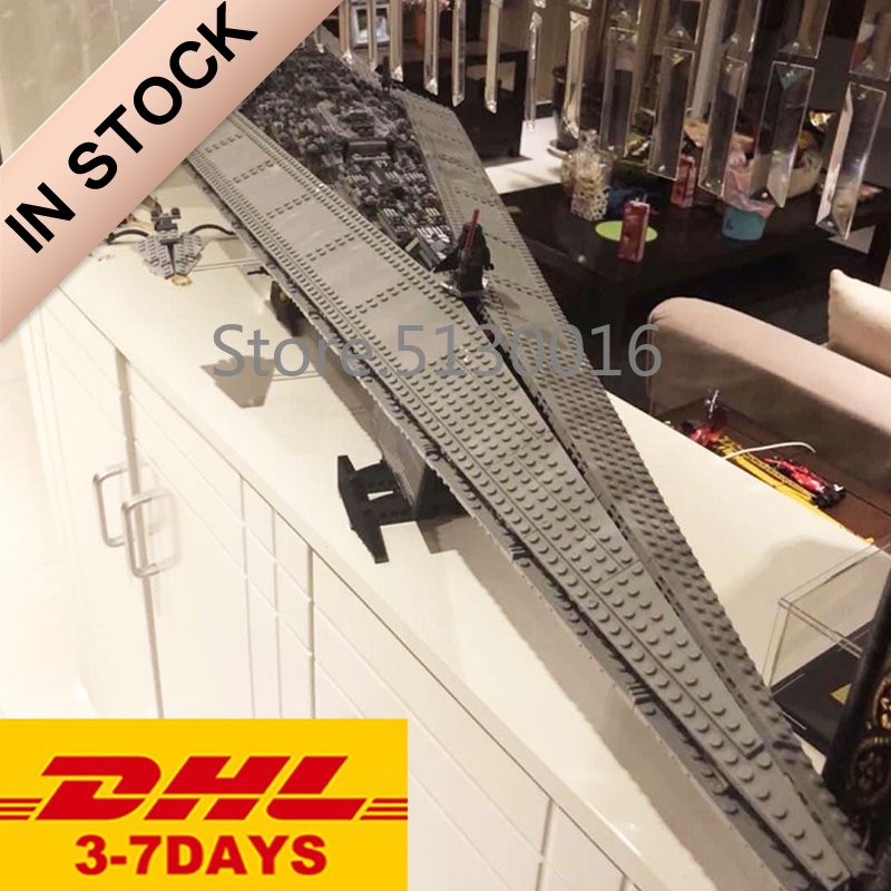 In Stock 05028 The Super Star Destroyer 3208pcs Star Movie Wars Model Building Blocks Compatible With 10221 Toys