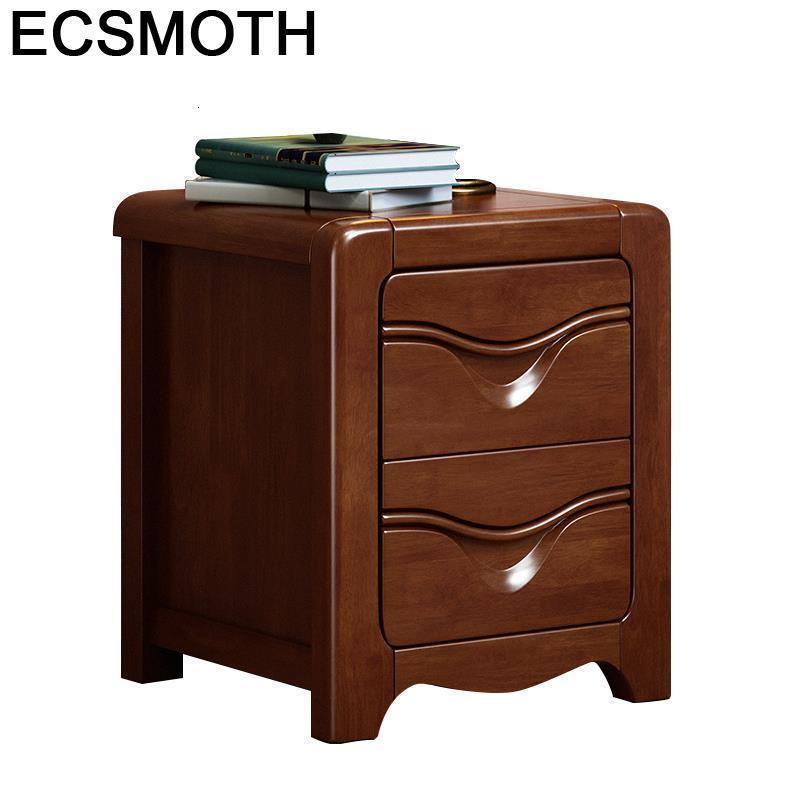 Lado mobiliário para a casa recamaras europeu de madeira chique armário quarto móveis mueble de dormitorio mesa de cabeceira