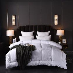 Luksusowe łóżko zestaw gęś biała/kaczki dół kołdra kołdry zgrubienie zimowe kołdry 100% bawełny okładka król królowa Twin w pełnym rozmiarze w Pierzyny i kołdry od Dom i ogród na