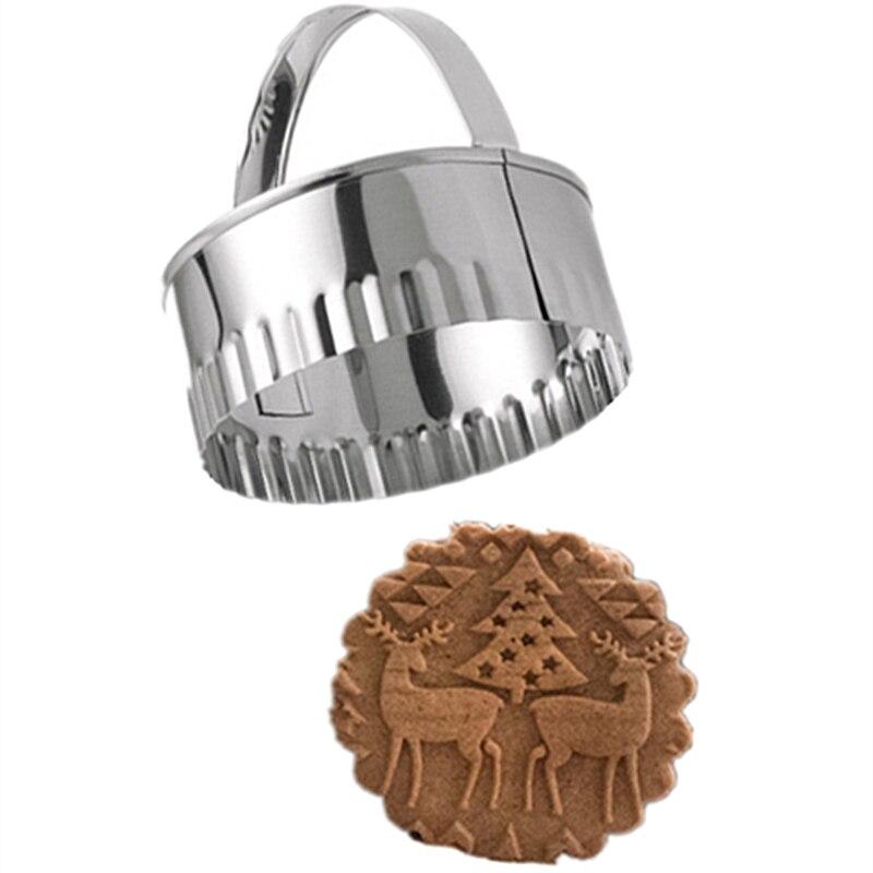 3 pçs de aço inoxidável biscoito diy molde redondo flor forma cortador ferramentas molde cozimento bolo cookie ferramentas cozimento Instrumentos p/ biscoito    -