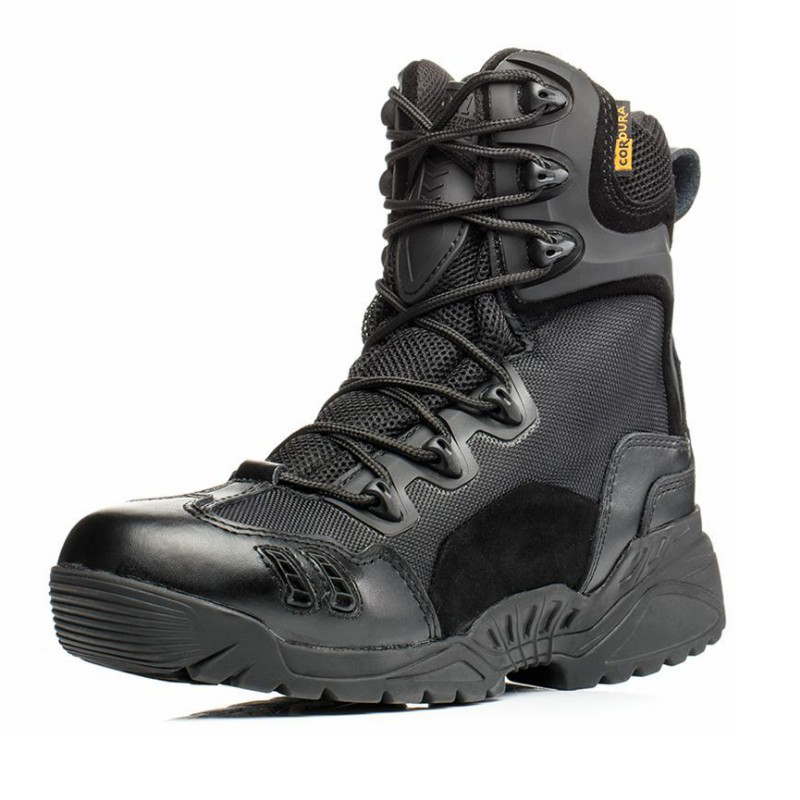 Image 2 - Men Trekking Outdoor Shoes Mountain Climbing Hunting Sneakers Mesns Military Tactical Combat Desert Boots Man Hiking Shoe-in Hiking Shoes from Sports & Entertainment
